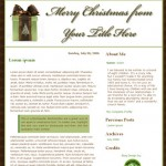 Christmas blog designs for Blogger