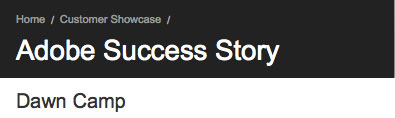 Adobe Success Story