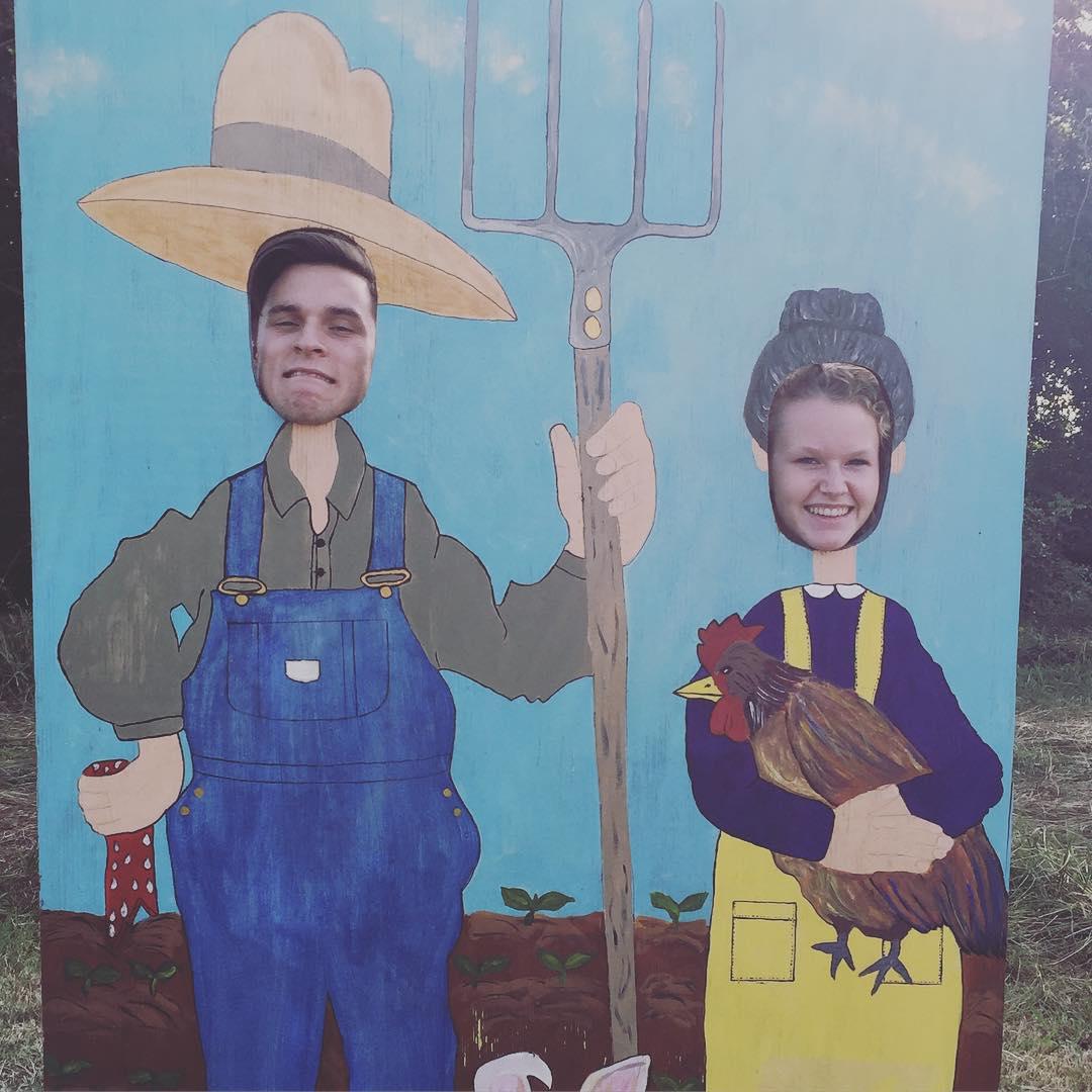 Fun at the pumpkin farm!