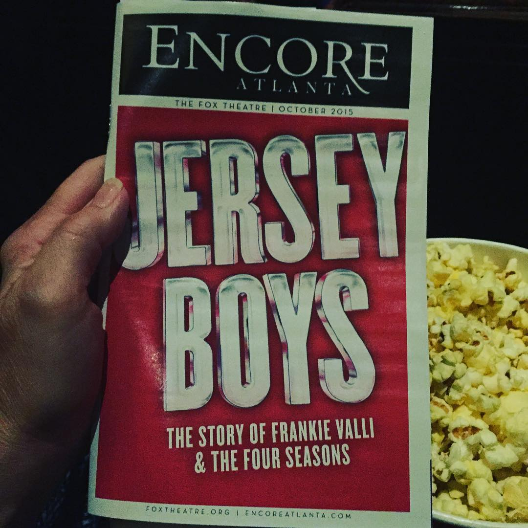 Ready for the show to begin! jerseyboytour jerseyboysbroadway