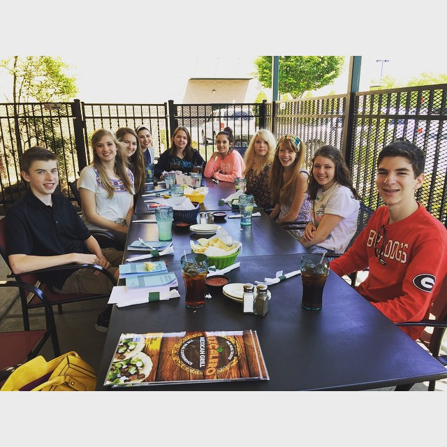 My awesome Challenge II class out to lunch with out…